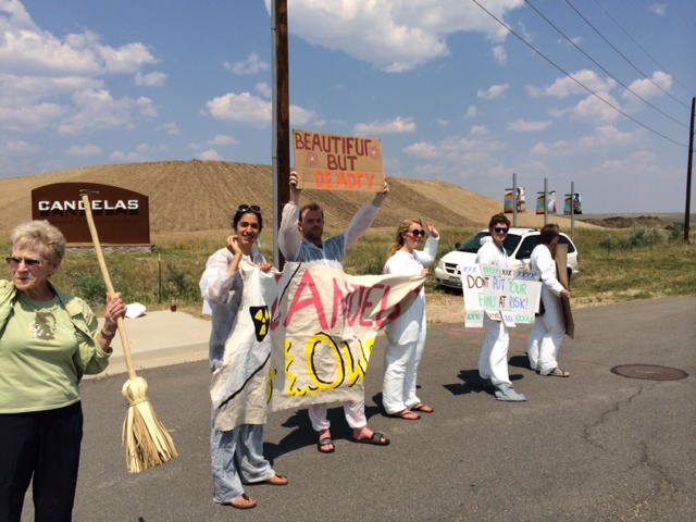 Protest at Candelas housing development near Rocky Flats