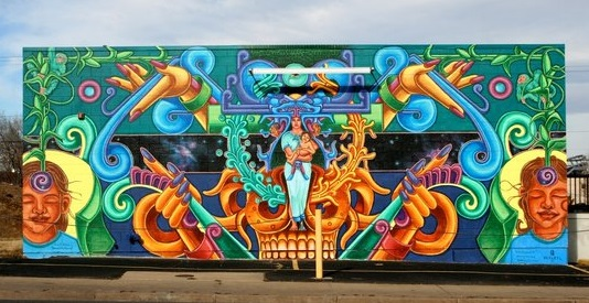 David Ocelotl: muralist for Americas Latino Eco Festival