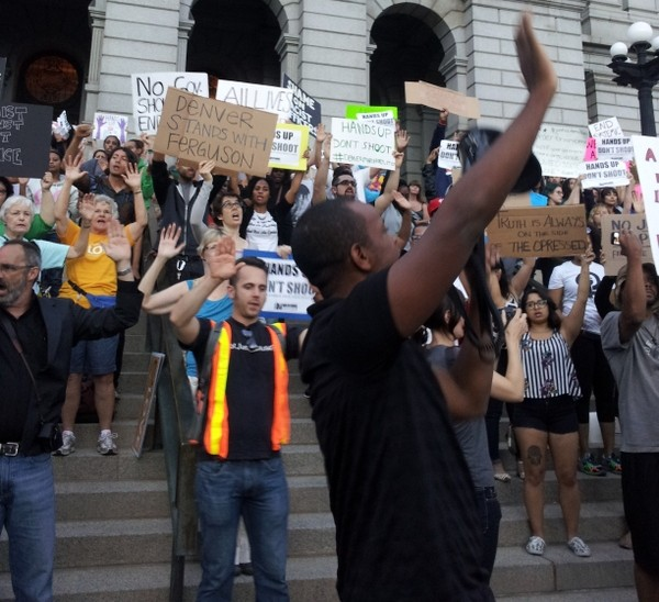Michael Brown Solidarity Rally in Denver