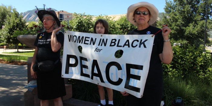Women in Black call for peace in Gaza