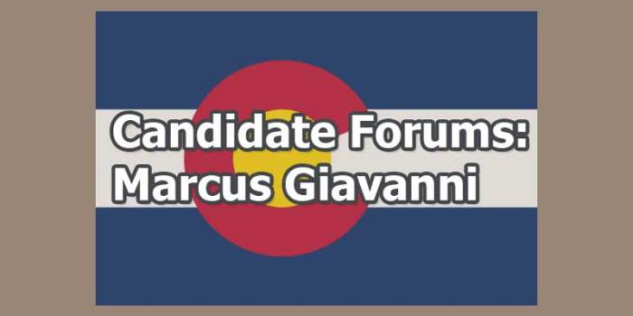 Marcus Giavanni: Write In Gubernatorial Candidate