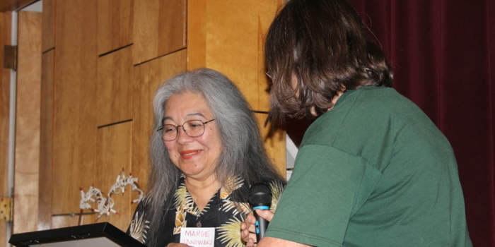 Marge Taniwaki and Tania Valenzuela Receive Jack Gore Award