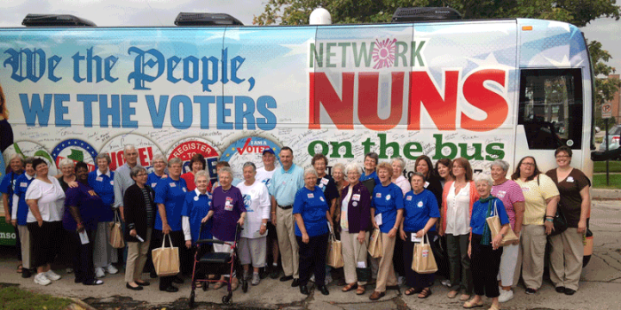 Nuns on the Bus in Boulder