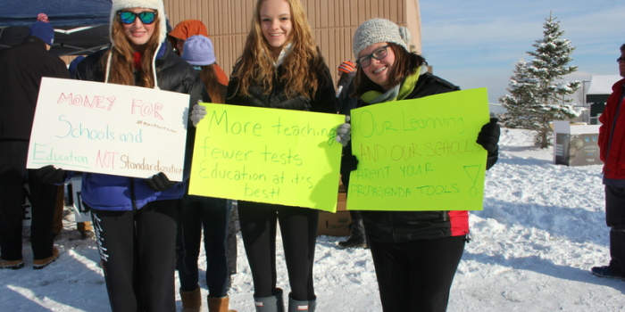 Students protest standardized tests
