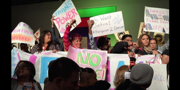 Trans Activists Interrupt National LGBTQ Conference in Denver