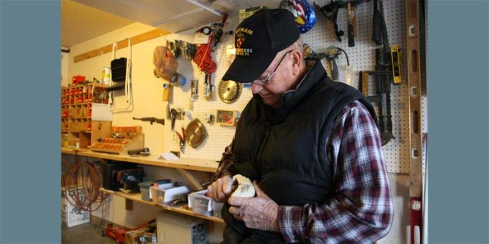 With Gratitude Veterans Craft Canes For Fellow Vets
