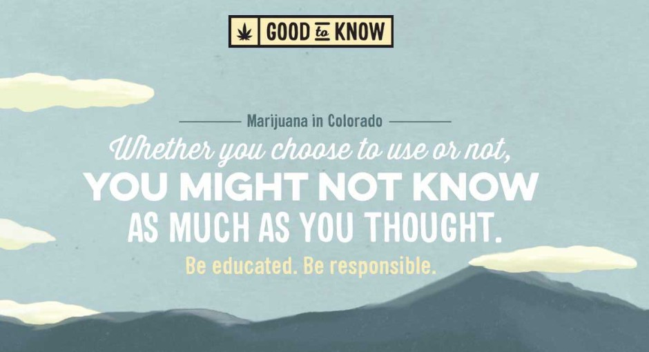 Weed Between the Lines: Good to Know Colorado