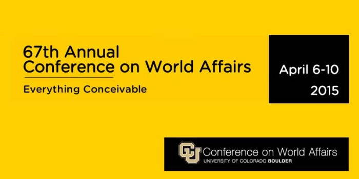 2015 Conference on World Affairs