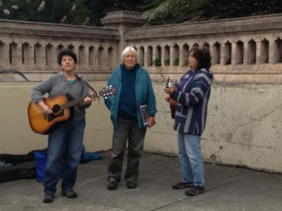 The group Occupella performed at memorial.