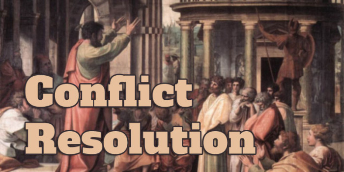 Conflict Resolution: Why Can't We Just Work it Out?