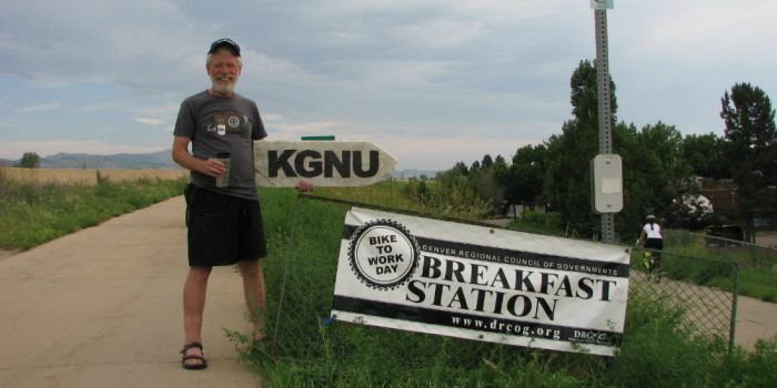 Bike to Work Day at KGNU