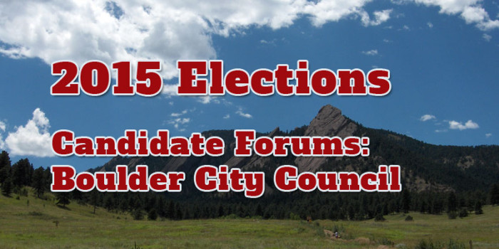 Boulder City Council Candidate Forums