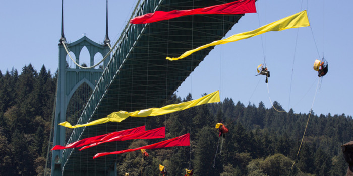 Boulderite Returns from Portland Bridge Action to Stop Shell Drilling
