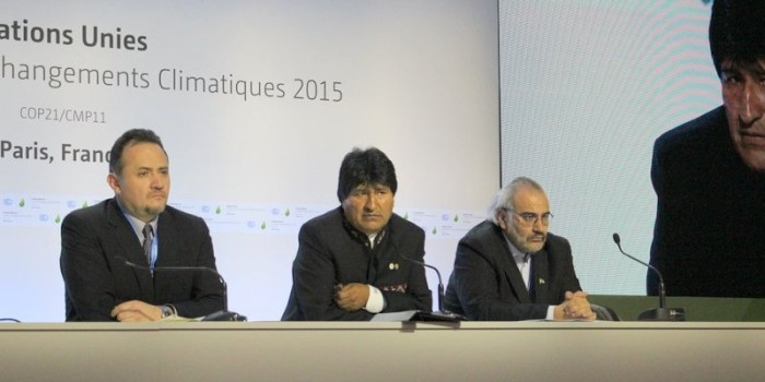 COP21 Paris: President of Bolivia, Evo Morales Holds Press Conference