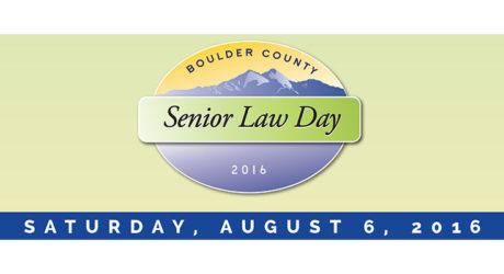 Boulder County Senior Law Day 2016