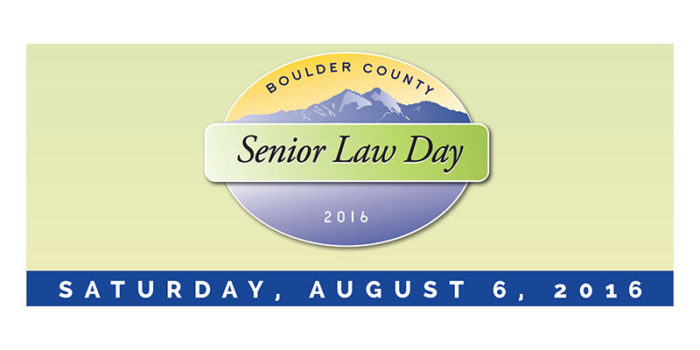 Boulder County Senior Law Day 2016