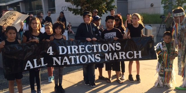 Four Directions March in Denver in support of Standing Rock protest