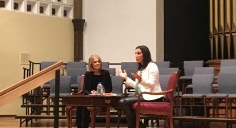 Gloria Steinem speaks in Boulder