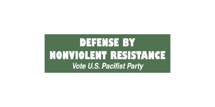 Bradford Lyttle: Non Violent Resistance Pacifist Party Candidate