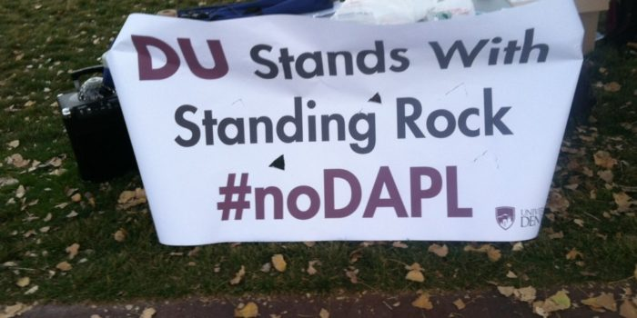 University of Denver students protest DAPL