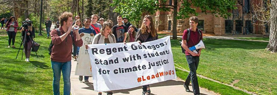 CU Students Stage Sit-In at Chancellor's Office Demanding Divestment from Fossil Fuels