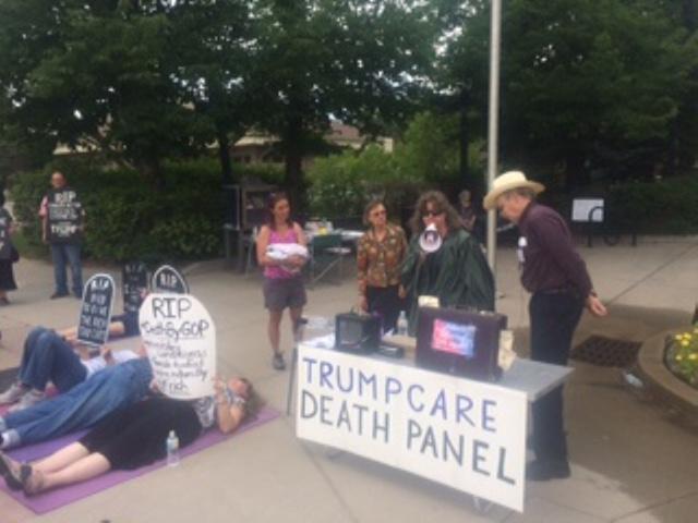 GOP Death Panel Die-In