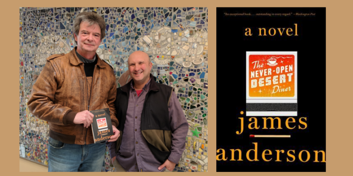"Radio Bookclub: James Anderson and ""Never Open Desert Diner"""