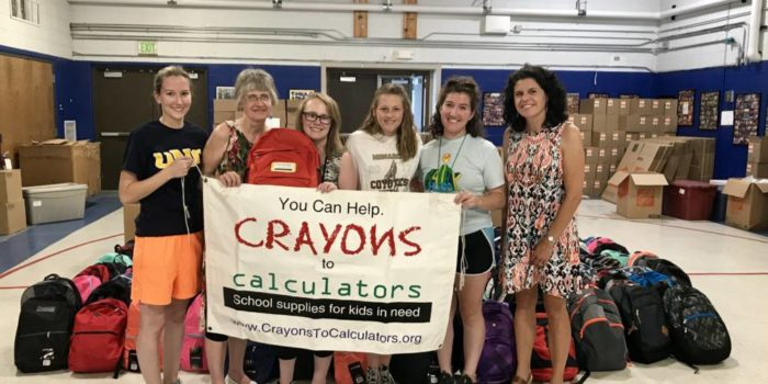Crayons to Calculators –  Helping Low Income Students