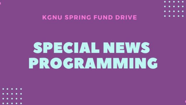 Spring Fund Drive News Specials
