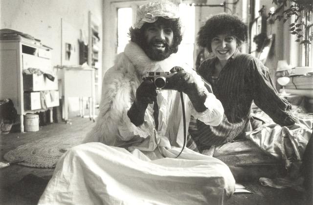George Lange with Francesca Woodman